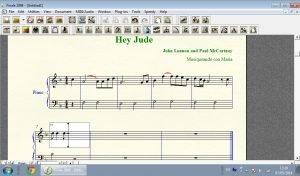 editando partitura hey jude
