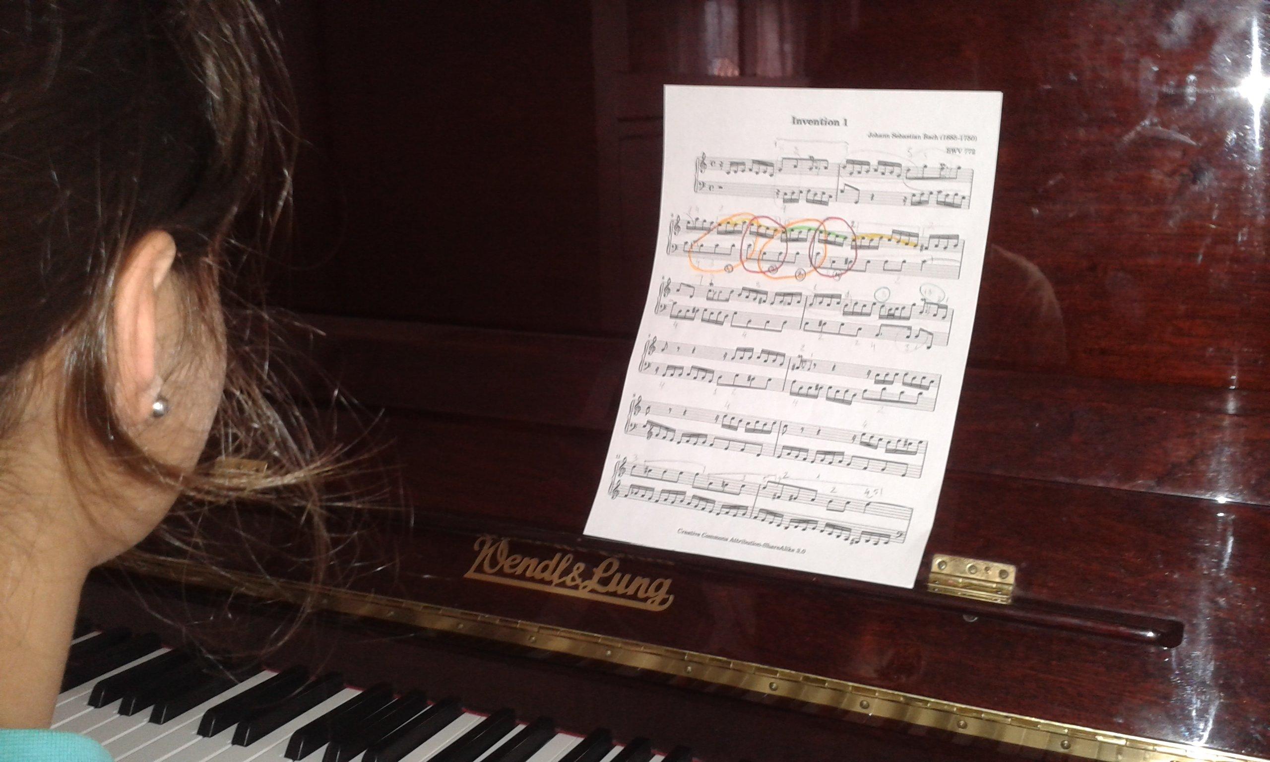 partitura alumna Pontevedra