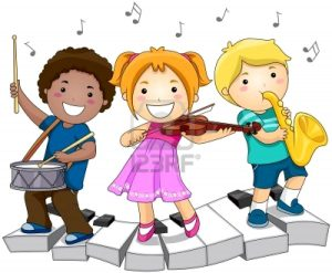 niños jugando con instrumentos