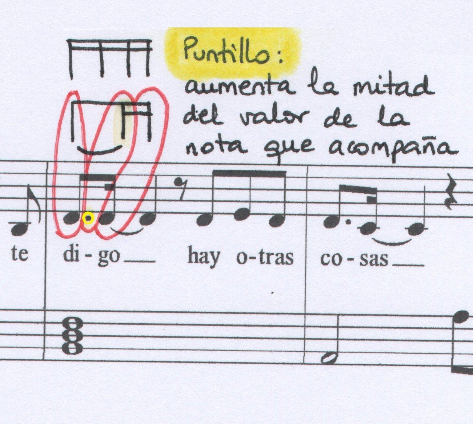 Puntillo La venda Musiqueando con María