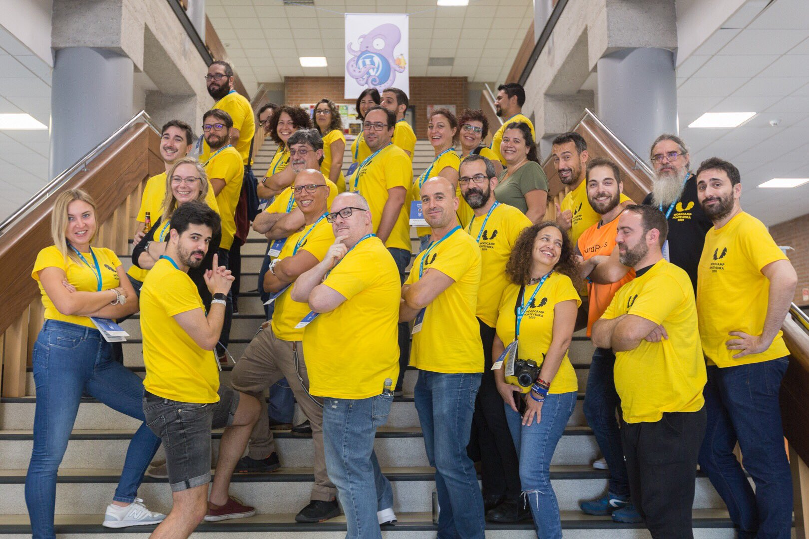 Voluntarios y organizadores de WordCamp Pontevedra