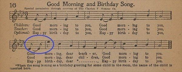 Canción original Cumpleaños feliz