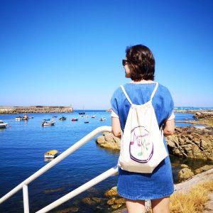Mochila en el puerto de A Guarda