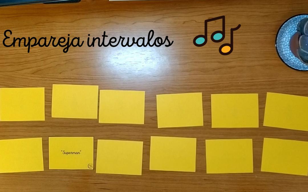 Juego de parejas de intervalos: aprende los intervalos con canciones conocidas